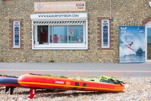 The front of K66 Boardriders surf shop in Worthing