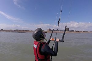 Learning how to kitesurf in Lancing