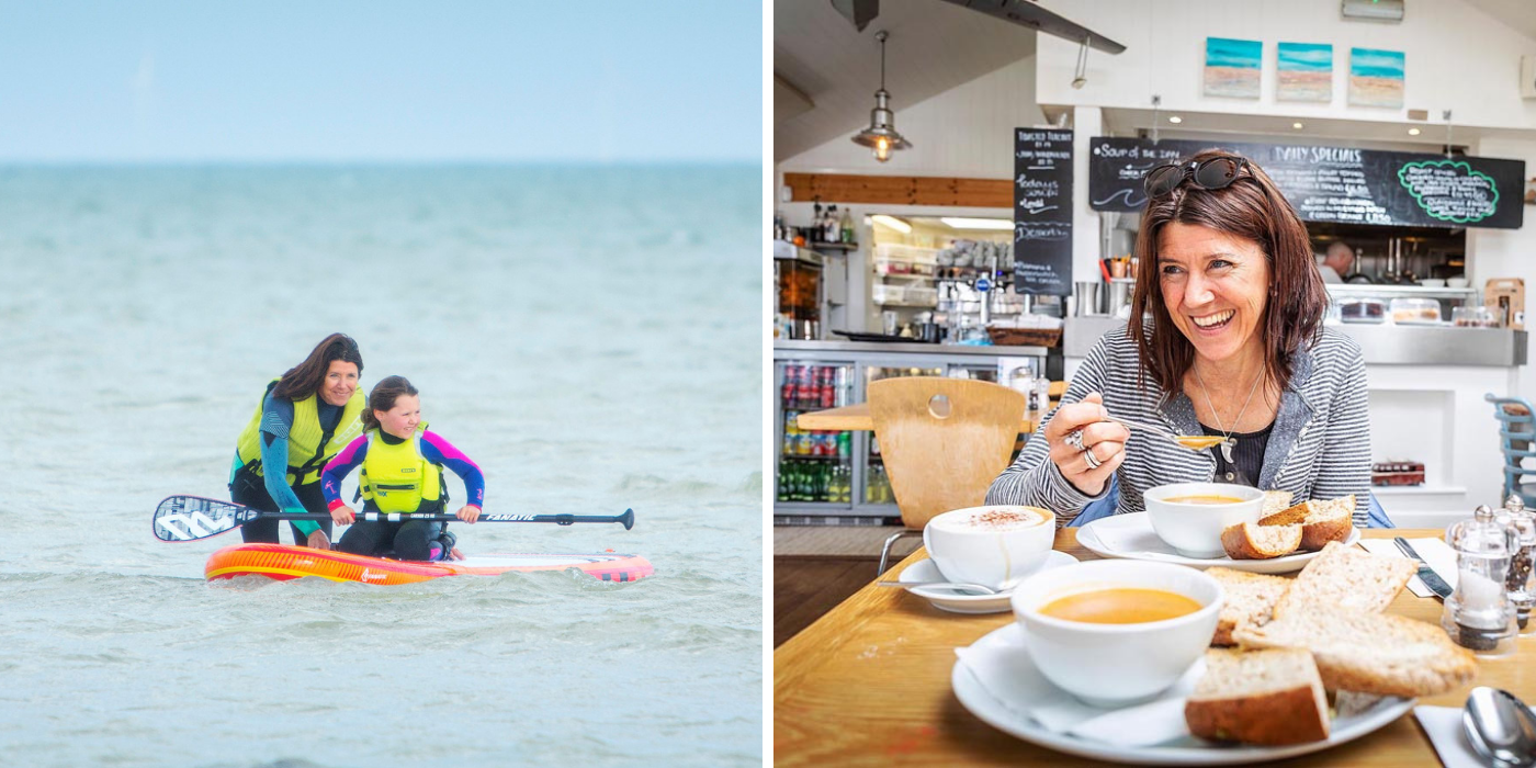 Paddleboarding at Bosham and dinner at Billy's on the Beach