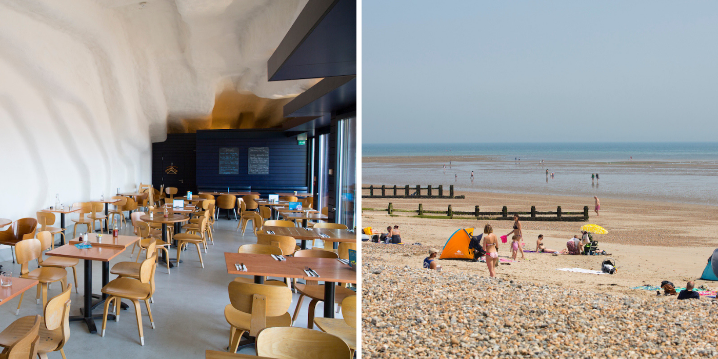 East Beach Cafe and East Beach, Littlehampton