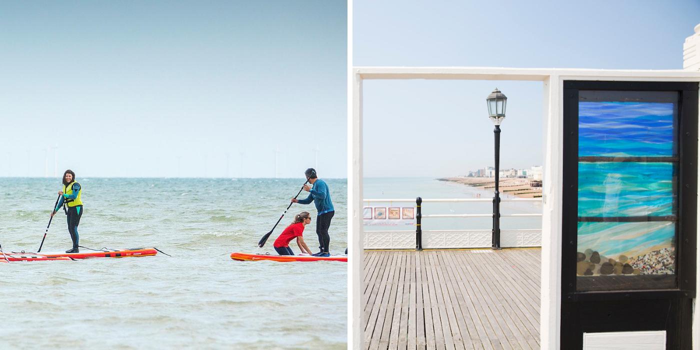 Watersports in Worthing or art on Worthing Pier