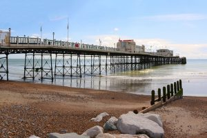 Worthing Pier at low tide