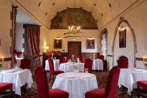 Dining room view of the Amberley Castle restaurant