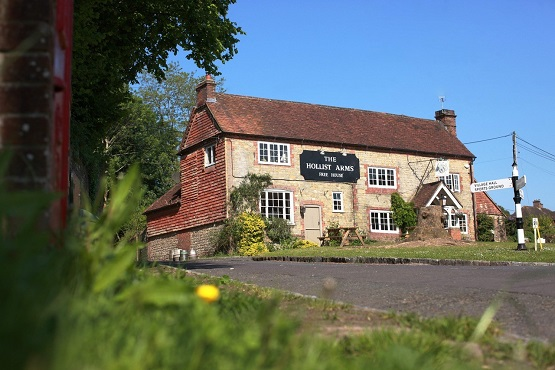 The front of the Hollist Arms in Petworth West Sussex