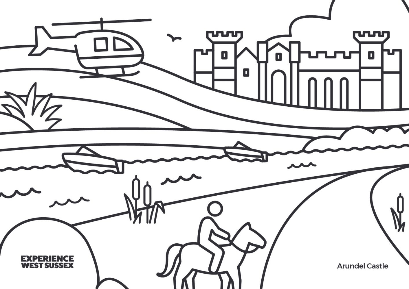 Arundel colouring sheet
