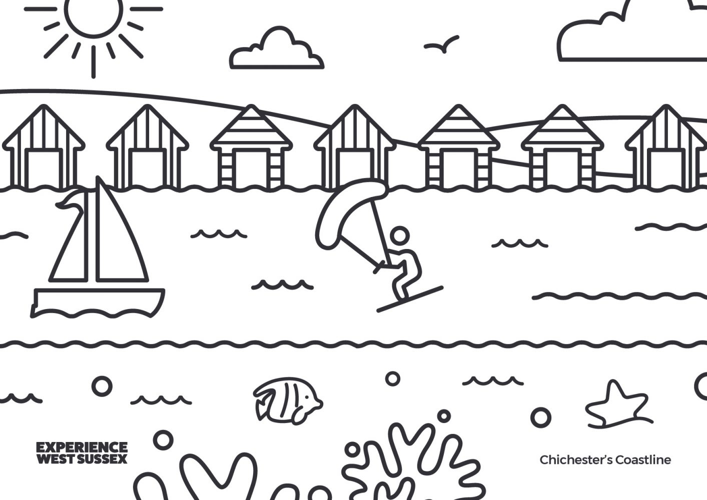 Chichester colouring sheet