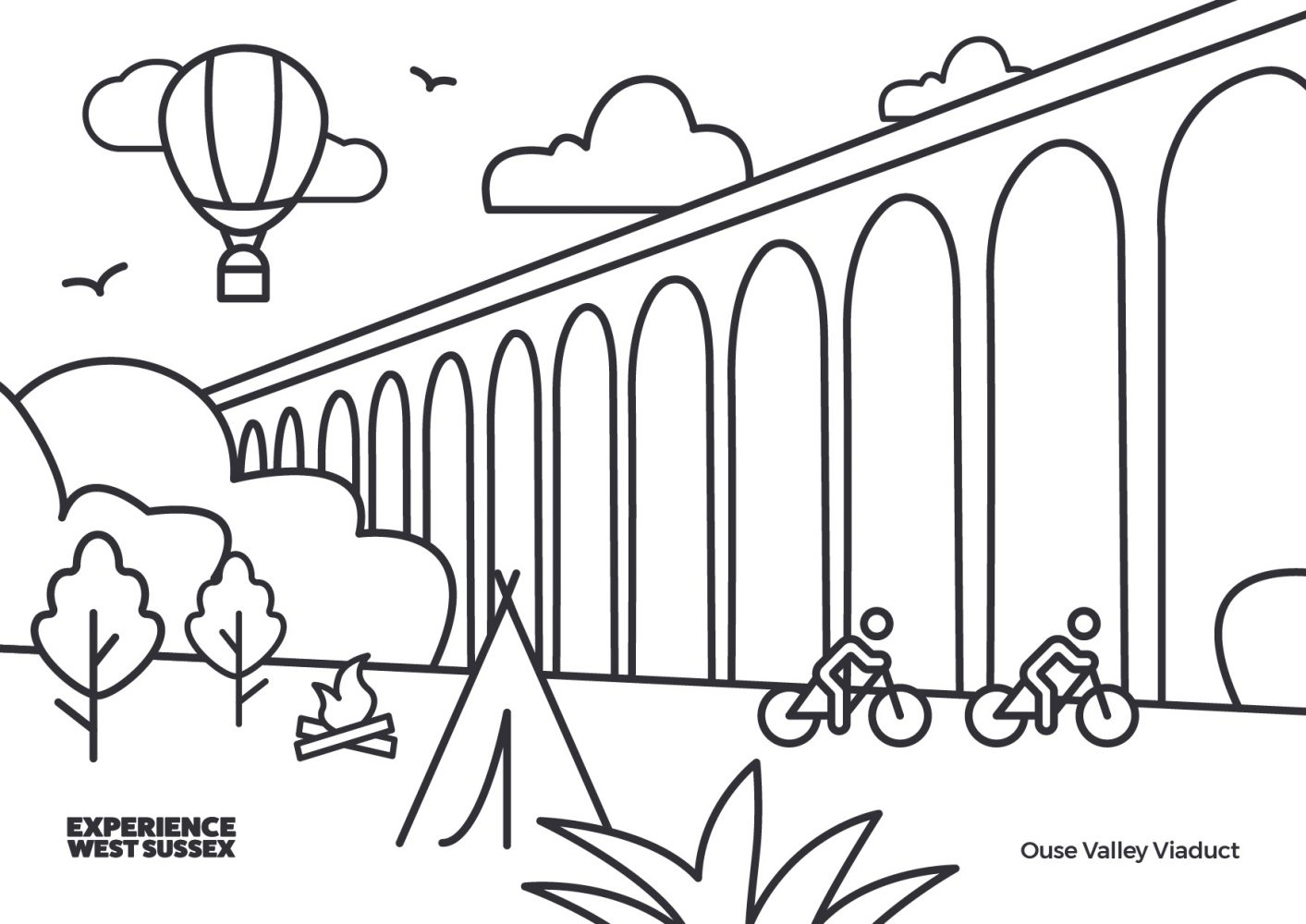 Ouse Valley Viaduct colouring sheet