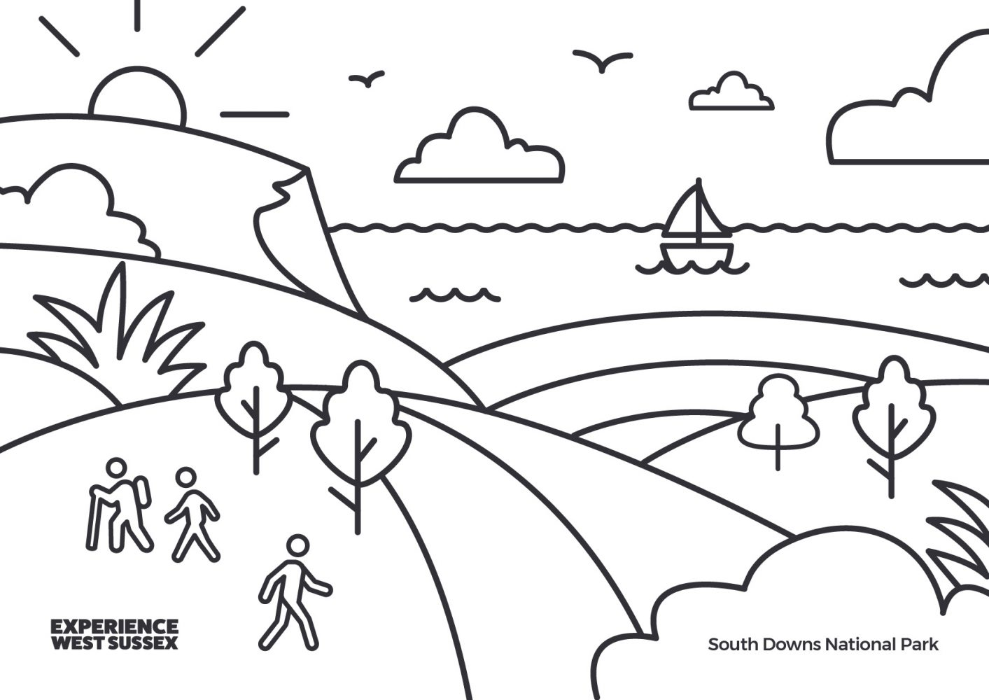 South Downs National Park colouring sheet