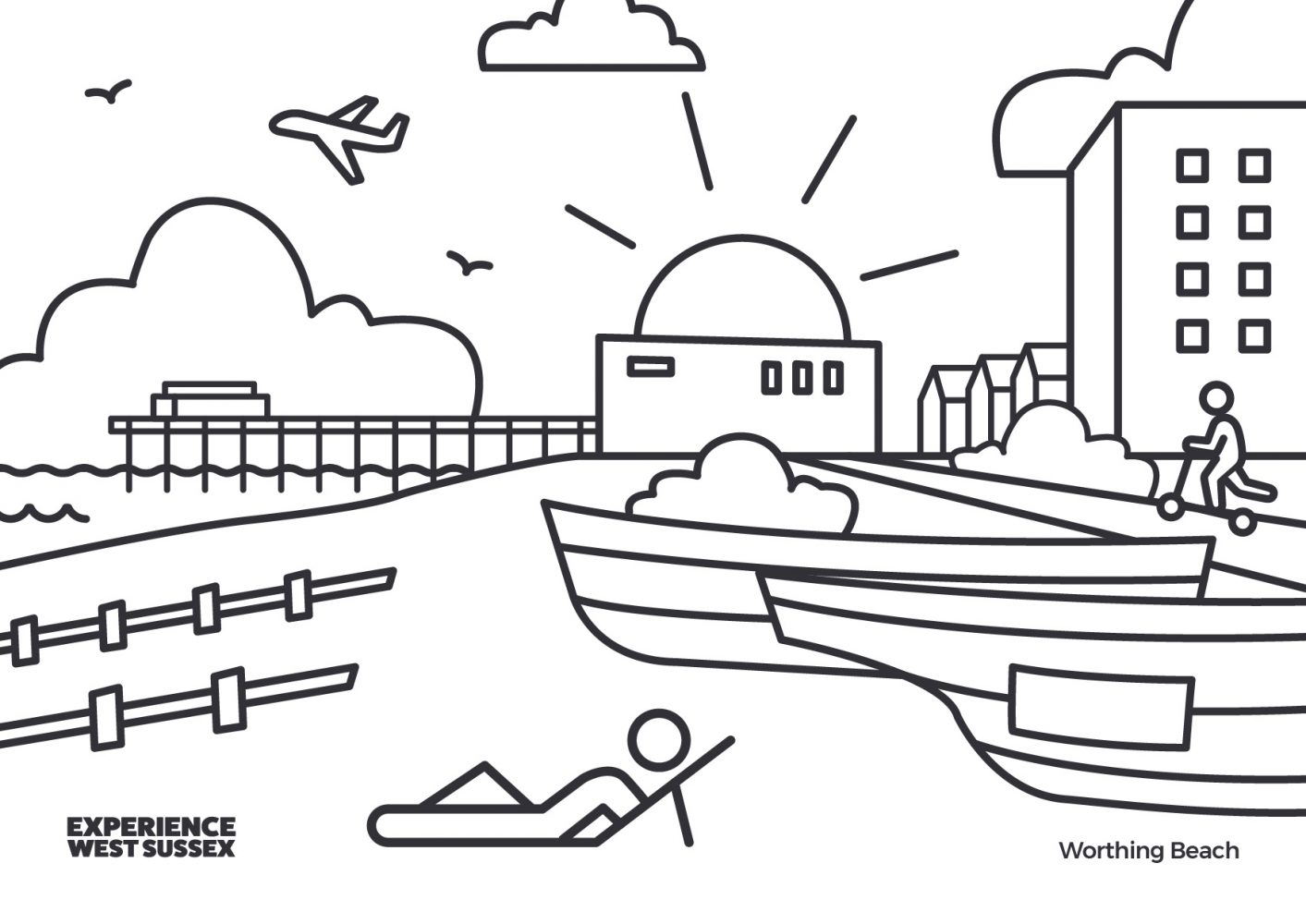 Worthing colouring sheet