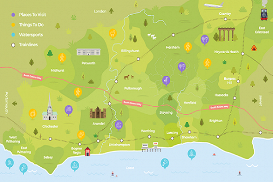Snapshot image of West Sussex virtual map