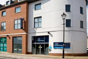 Outside building of the Travelodge Chichester Central