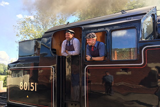 Two men on the Bluebell railway