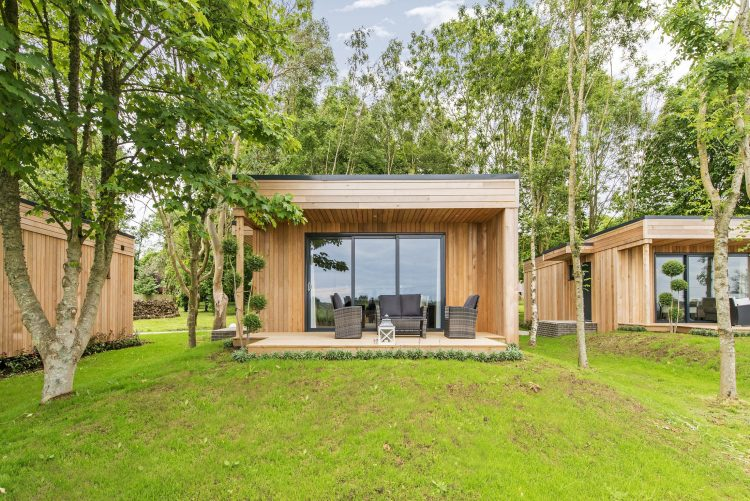 Tinwood Lodges pictured in the countryside