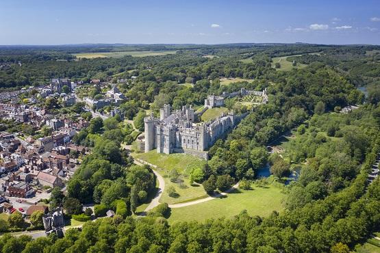 Aerial image of Arundel castle