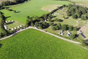 Aerial image of New Wharf Campsite in Steyning