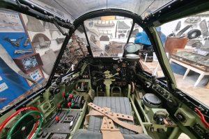 Inside a World War II cockpit at Wings Aviation Museum