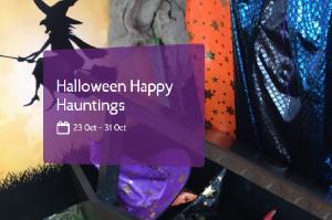 Halloween costumers hung up