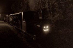 ghost train in the dark